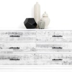 Cody Dresser In White Washed Reclaimed Wood Modshop