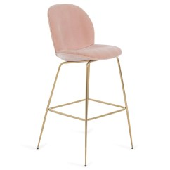 Pink Stool Chair Desk With Arms No Wheels Modern Curved Bar Modshop
