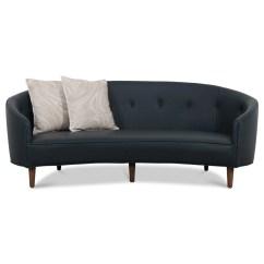 Crescent Sofa Leather Manstad Corner Bed Cover Art Deco Baci Living Room