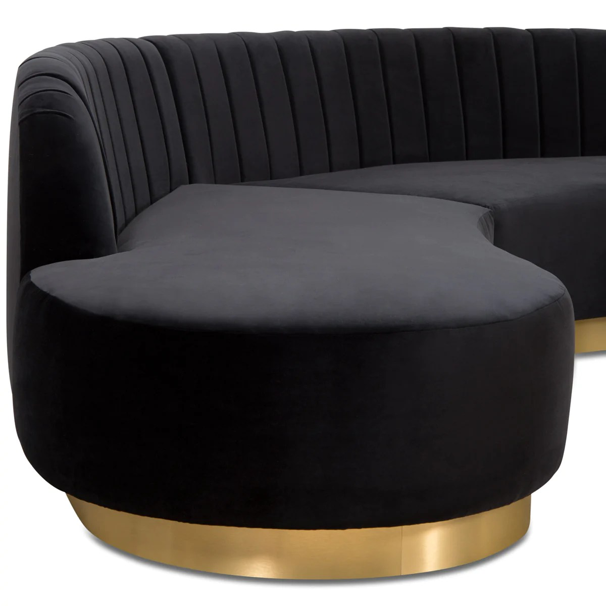 Biarritz Sectional Curved Sectional With Brass Base Modshop