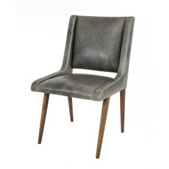 Mid Century Dining Chairs Overstock Com Room Chair In Distressed Grey Leather Modshop