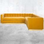 Delano Sectional With Loose Cushions Modern Tufted Sectional Modshop
