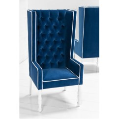 Royal Blue Velvet Chairs Cheap Modern Rocking Chair Ultra Tall Mod Wing Dining In