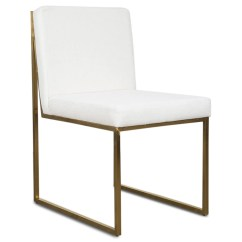 White Linen Chair Bean Bag Singapore Goldfinger Dining Chairs Modshop