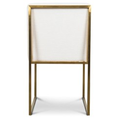 Modern Art Chair Covers And Linens Dinning Room 007 Goldfinger White Linen Dining Modshop