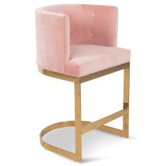 Pink Stool Chair Used Rocking Chairs For Sale Ibiza Bar And Counter Velvet Modshop