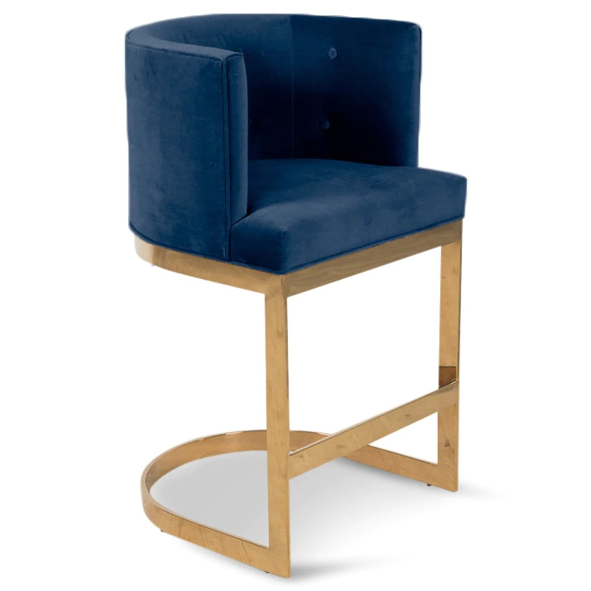 navy chair stool strong back canada ibiza bar and counter velvet modshop