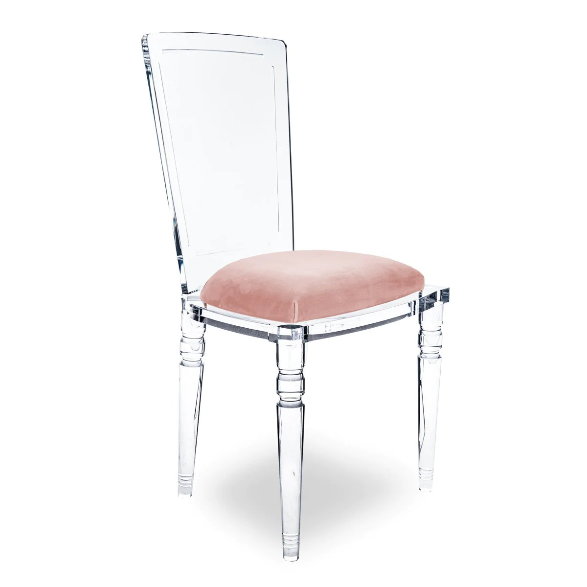 Lucite Chair Juliette Chair Armless Lucite Chairs With Padded Seat Modshop