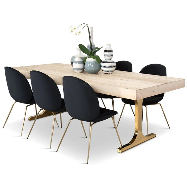 modern tables and chairs upholstered dining with nailheads online modshop mykonos table