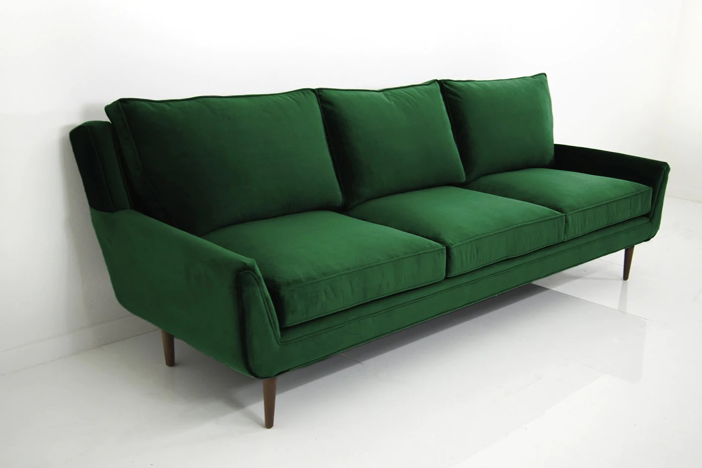 sofa bed green velvet how to put on a sure fit cover stockholm in emerald modshop