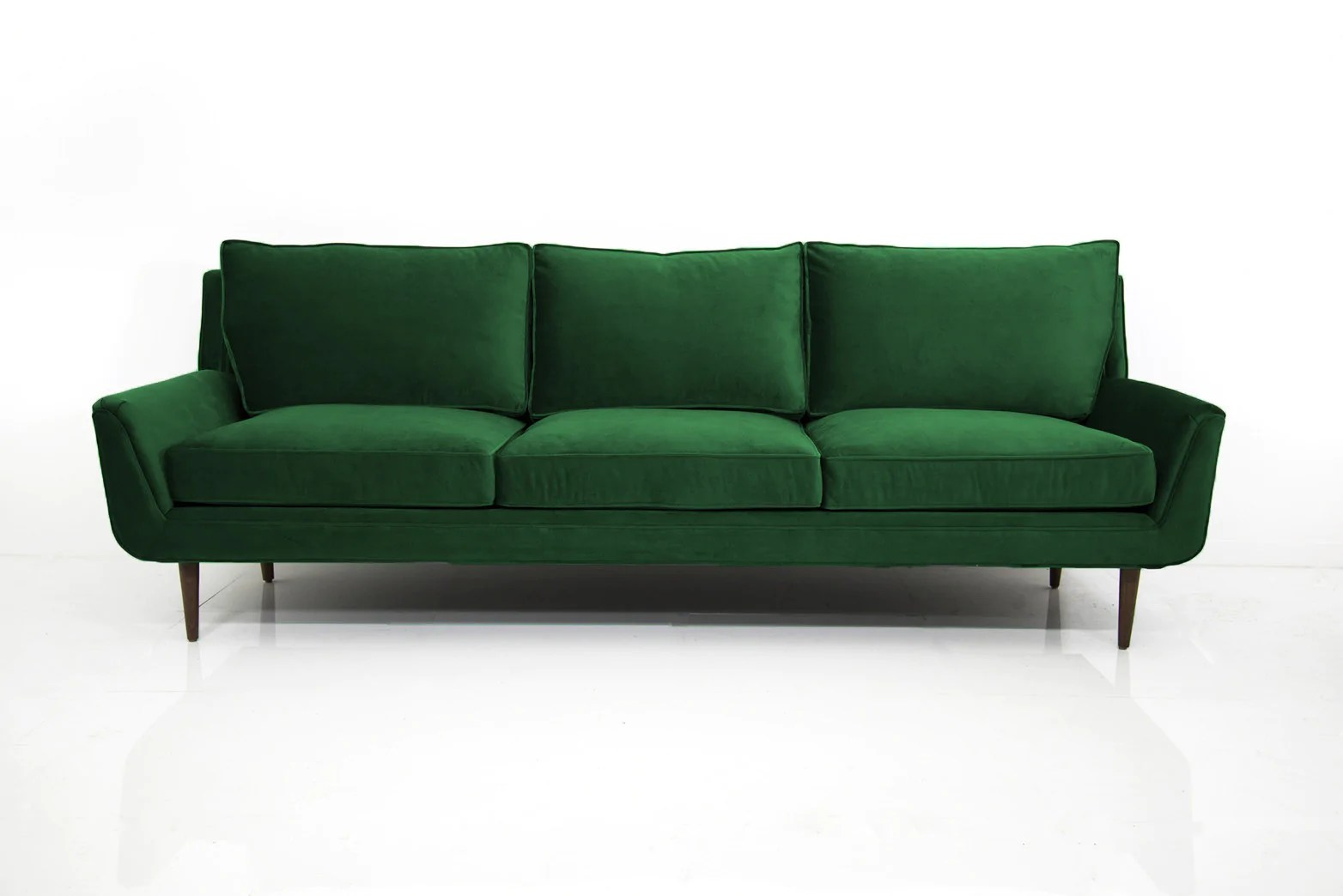 sofa bed green velvet broken leg stockholm in emerald modshop