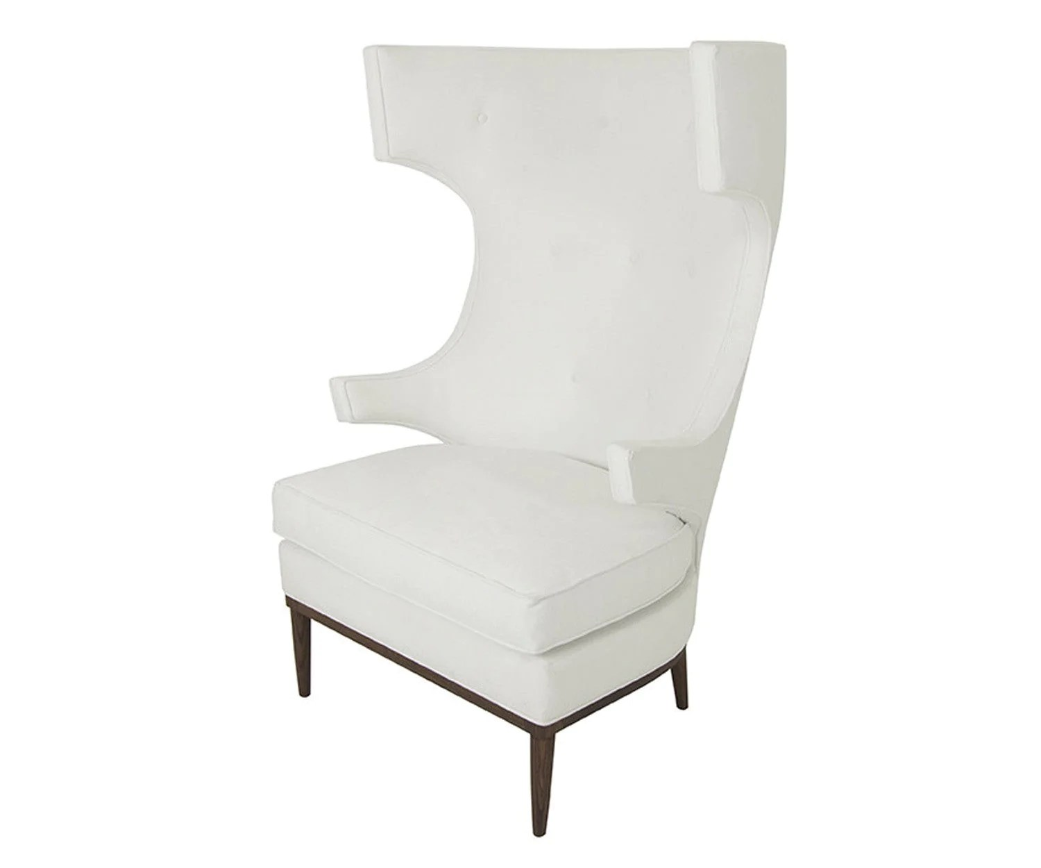 White Wing Chair Trousdale Wing Chair In Bella White