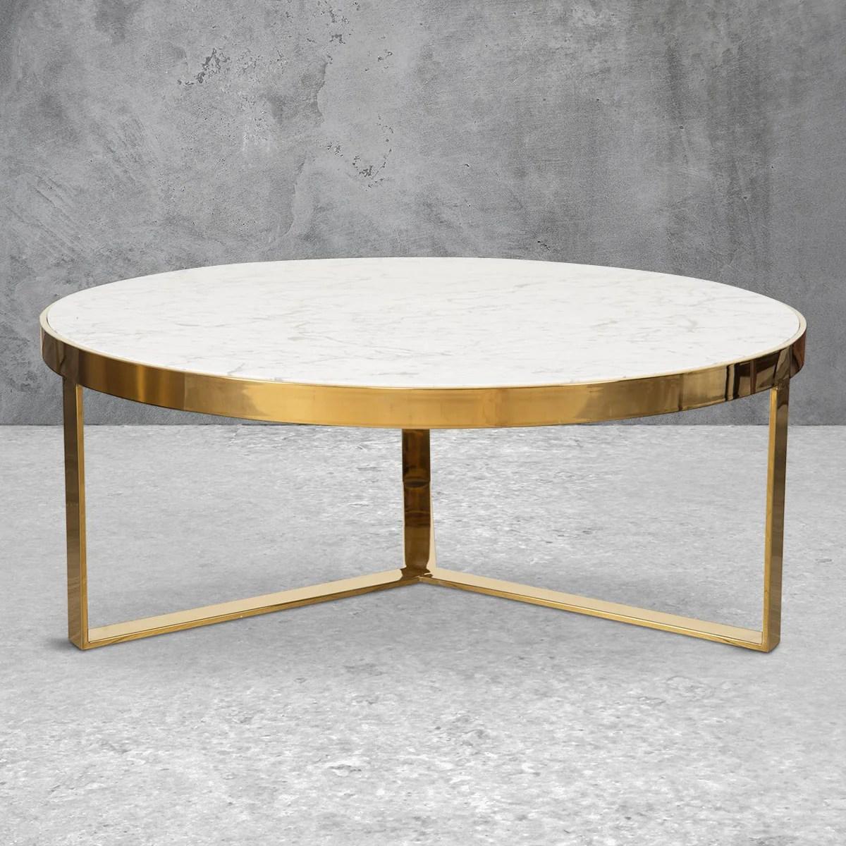 modern brass wood glass coffee tables