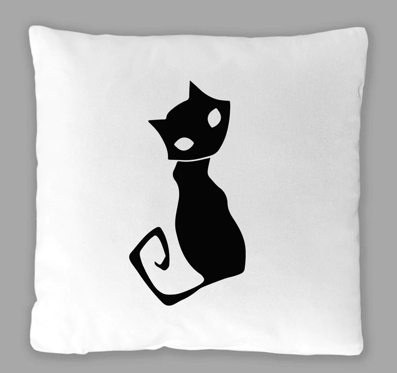 spooky cat pillow cover
