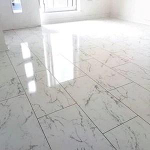 gloss carrera marble tile flooring