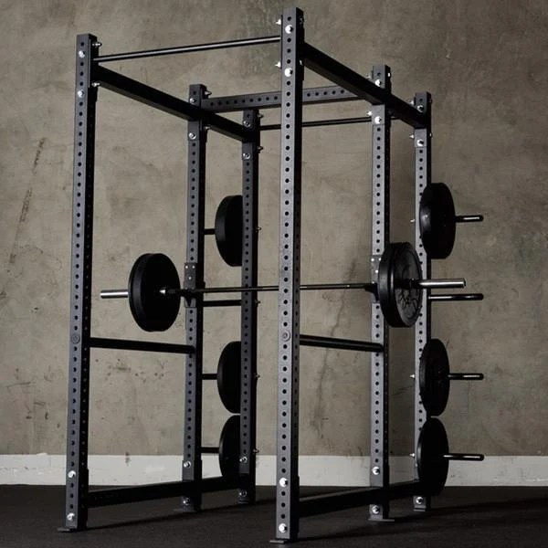 american barbell power rack w storage extension and safety spotter straps