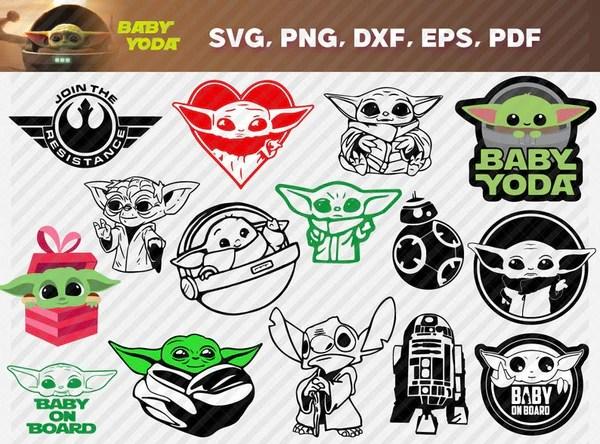 Download Baby YODA Bundle svg,dxf,png,Digital download, Instant ...