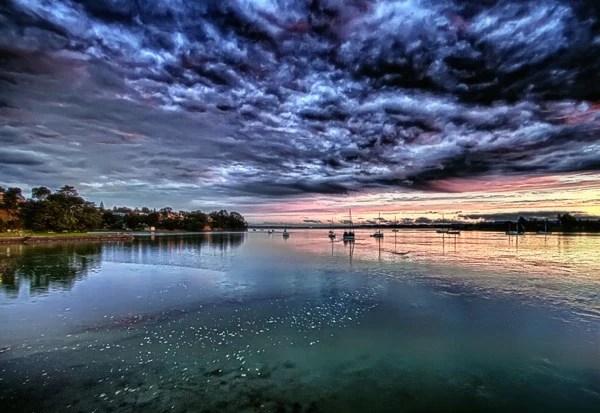 auckand new zealand sunset