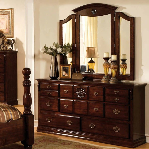 Tuscan Colonial Style Dark Pine 6 Piece Bedroom Set 247 Shop At Home