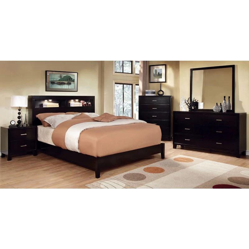 Estelle Contemporary Style Espresso Finish 6 Piece Bedroom