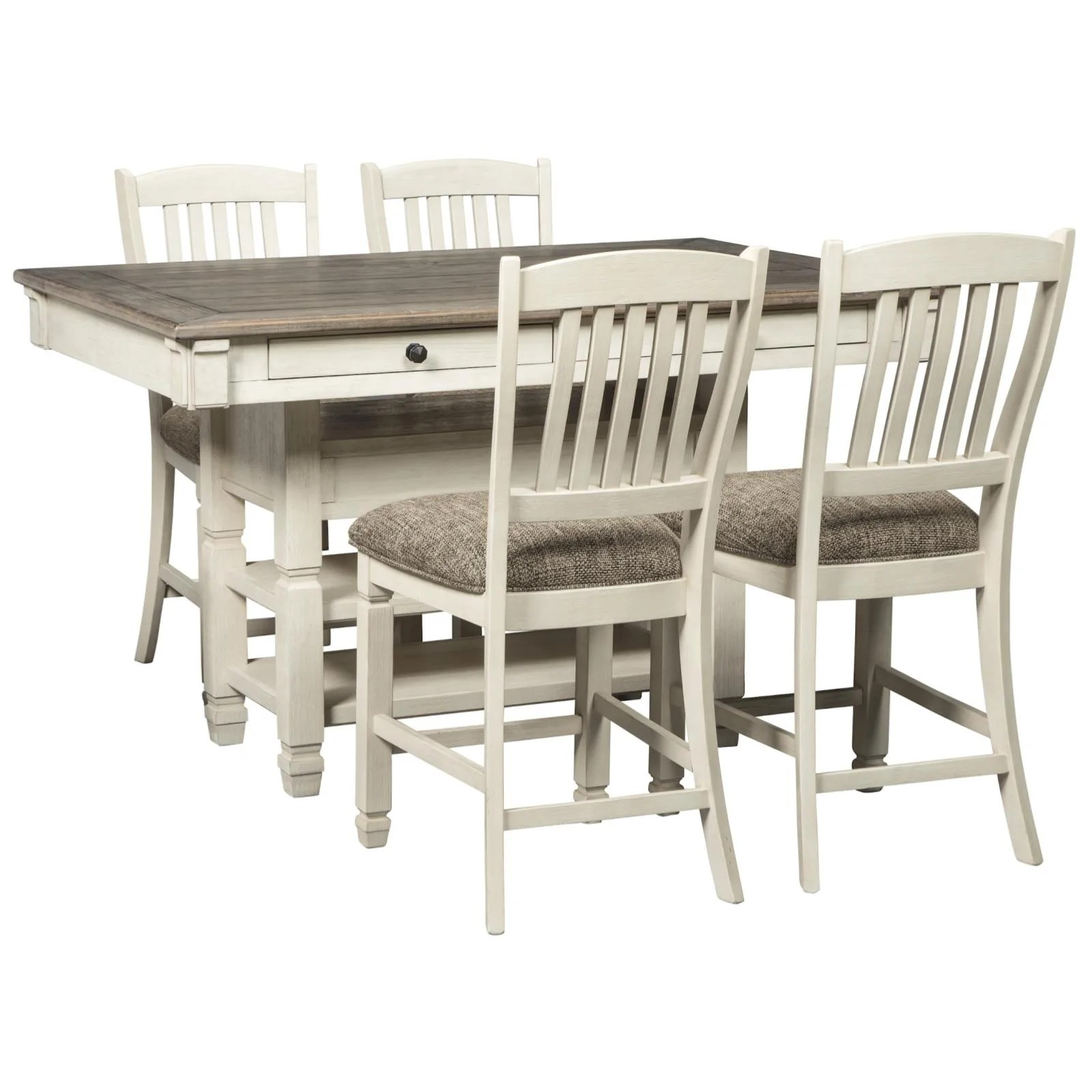 Bolanburg 5 Piece Counter Height Dining Set Adams Furniture