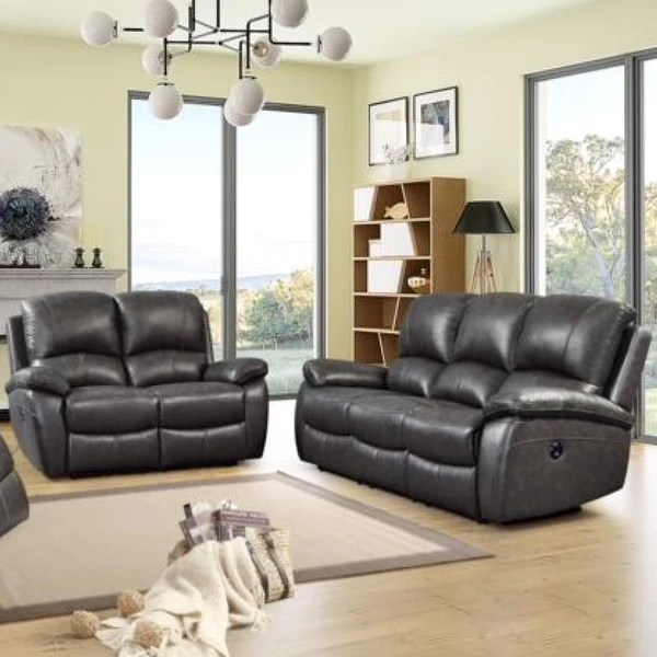 recliner living room set cheap leather furniture jasmine power reclining adams