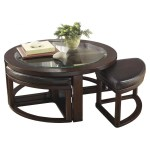 Marion Round Coffee Table With 4 Stools Adams Furniture