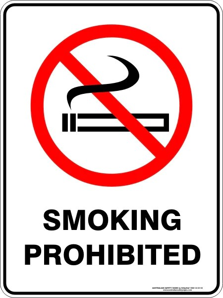SMOKING PROHIBITED  Australian Safety Signs