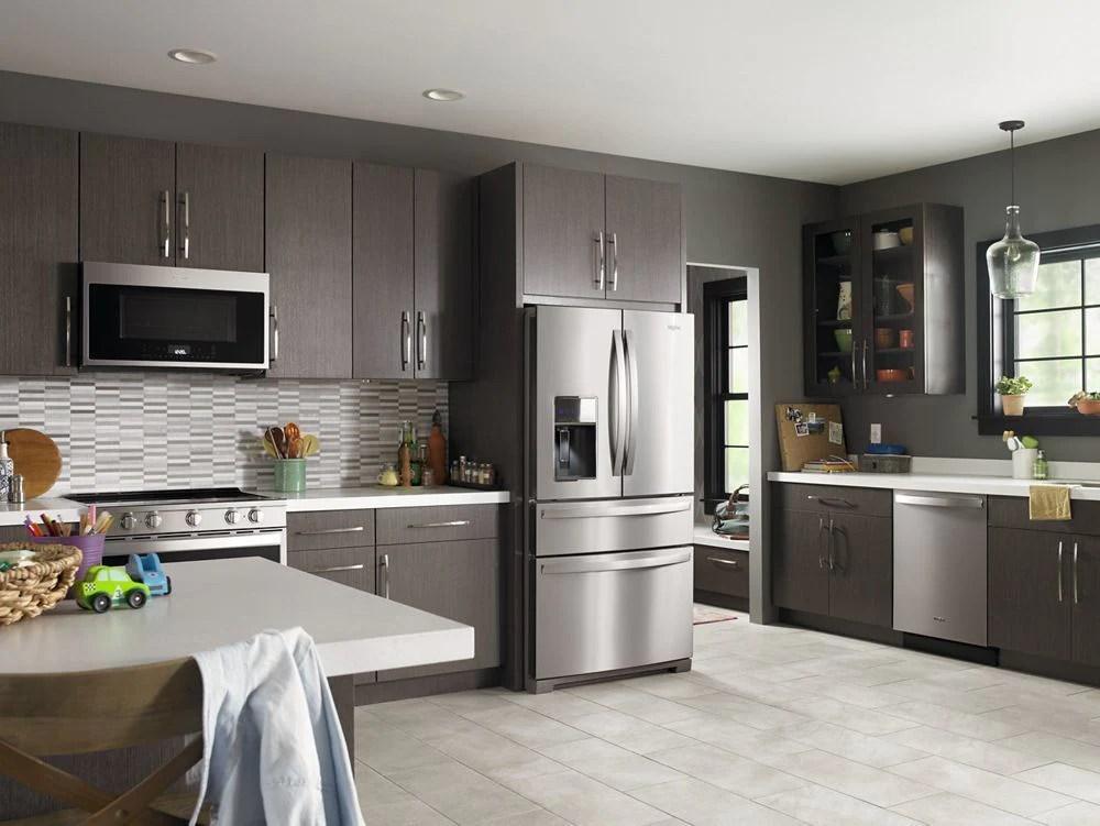 whirlpool wrx986sihz 36 inch wide 4 door refrigerator with exterior drawer 26 cu ft