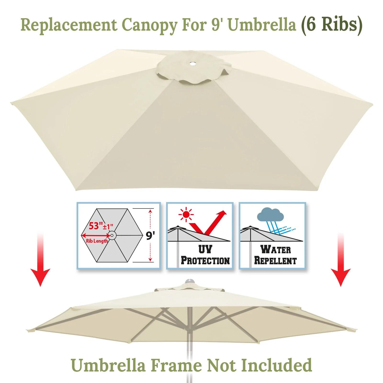 116 x79 patio umbrella canopy top