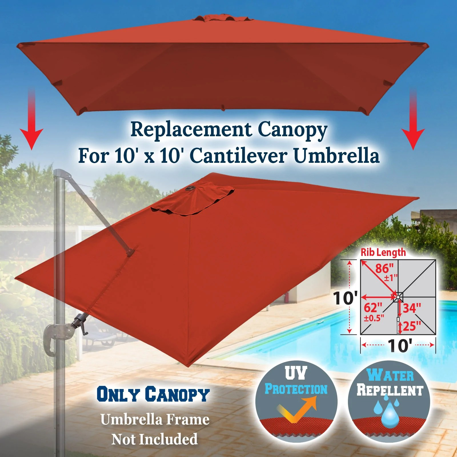 canopy only umbrella cover canopy uv