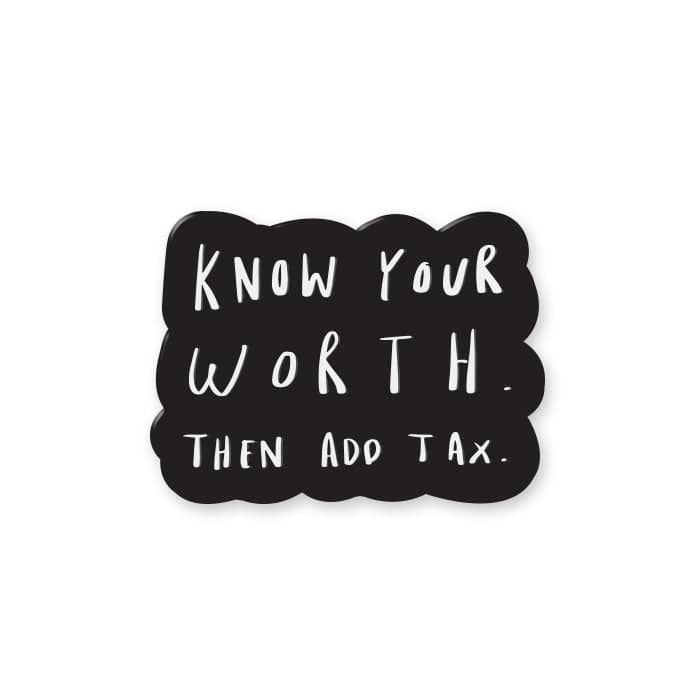 Know Your Worth Enamel Pin - Motivational Enamel Lapel Pin — Old English Company