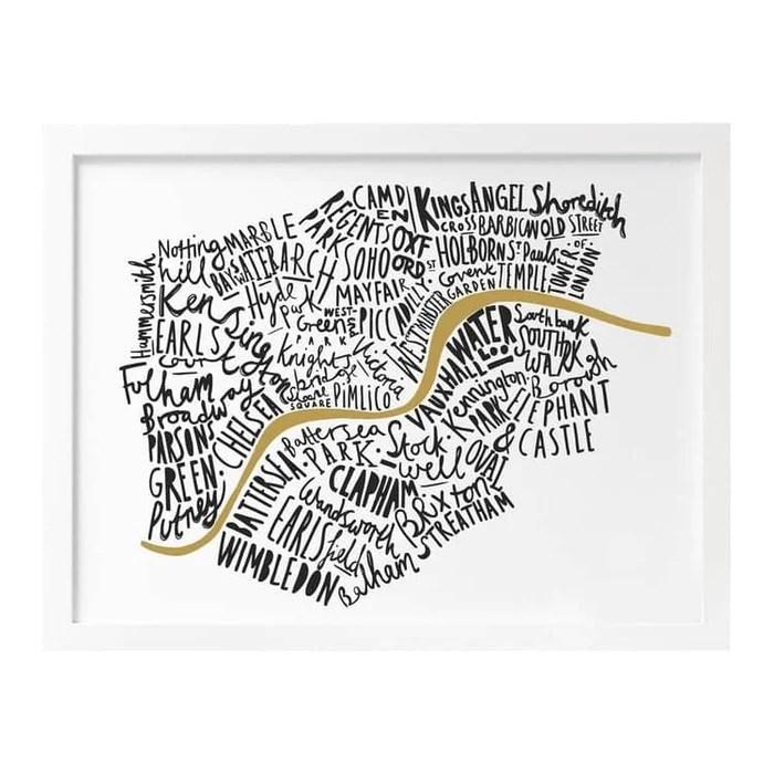map of london print