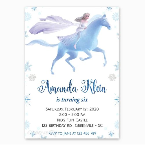frozen birthday invitations and party