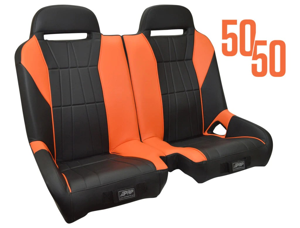 small resolution of prp seats polaris rzr 50 50 front bench custom head rest logo available