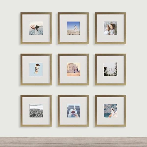 4x4 Or 8x8 Brushed Metal Square Instagram Photo Frame Tiny Mighty Frames