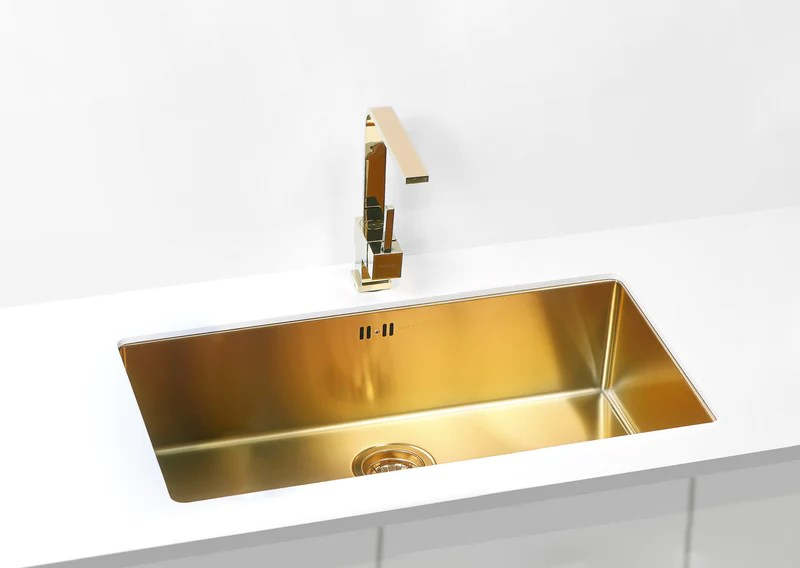 Bronze Brass Finish Kitchen Sink Extra Large Alveus