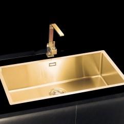 Large Kitchen Sink Dimensions Gray Floor Tile Gold Brass Sink, Extra-large   Alveus Monarch ...