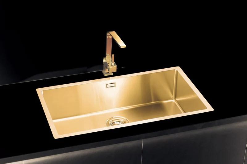 Gold Brass kitchen sink extralarge  Alveus Monarch