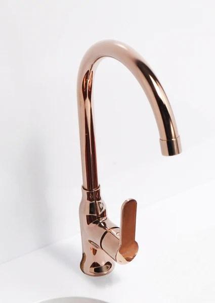 Copper kitchen mixer tap monobloc  Alveus Monarch Slim