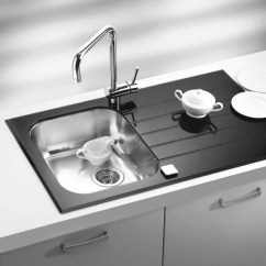 Black Sink Kitchen Faucet With Side Spray Glass White Bespoke Colours Yellow Red Alveus Glassix 10 Inset Stainless Steel