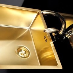 Stainless Steel Single Bowl Kitchen Sink Stoves At Lowes Gold / Brass Sink, Steel, Flushmount ...