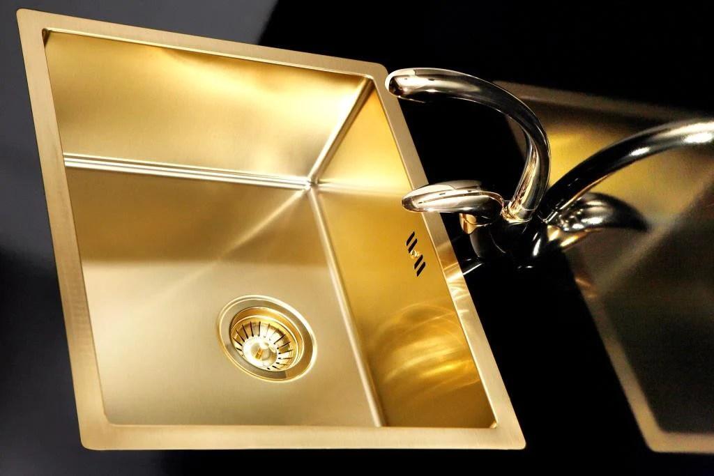 undermount single bowl kitchen sink outdoor islands for sale gold / brass sink, stainless steel, flushmount ...