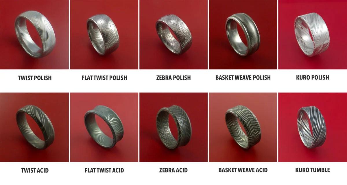 Damascus Steel Patterns  Stonebrook Jewelry