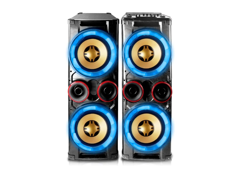 hight resolution of technical pro integrated dj mixer dual active 12 speaker system