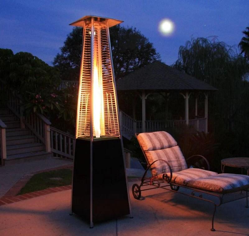 the roma black powder coated pyramid patio heater
