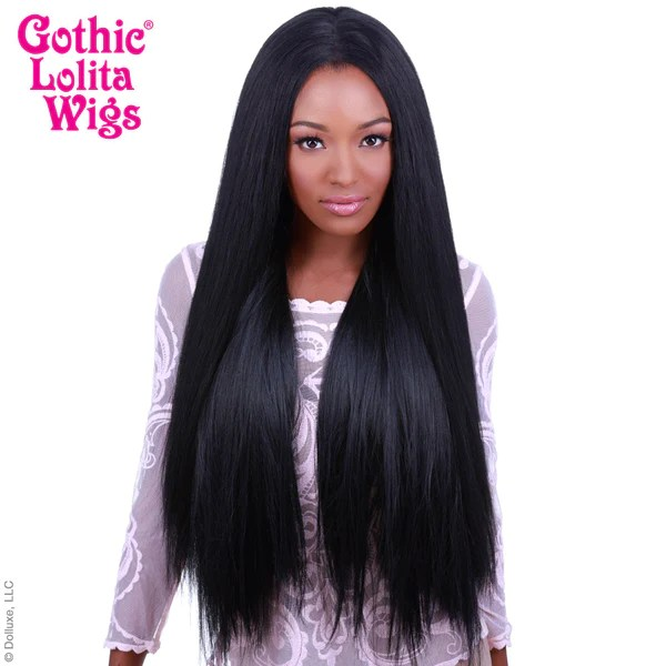 Lace Front Yaki Straight 32 Black 00591 Dolluxe