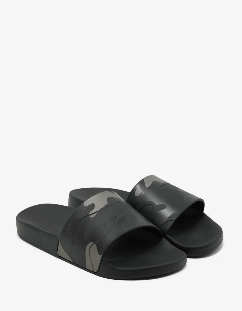 Valentino Garavani Camouflage Print Slide Sandals