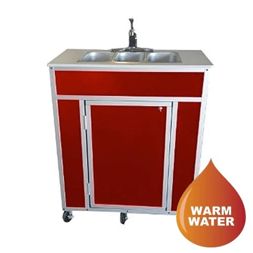 monsam ns 009t nsf certified three basin portable self contained sink monsam portable sink sustainablesupply com