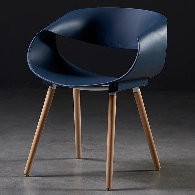 chaise scandinave bleue design deco nordique
